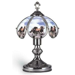 14-25-in-Running-Horses-Black-Chrome-Touch-On-Table-Lamp