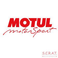 MOTUL Motorsport Aufkleber Sticker Einzelbuchstaben 30x10 cm rot Trägerfolie
