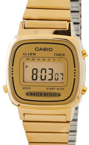 1 of 1 - Casio LA-670WGA-9 Ladies Watch Gold Stainless Steel Band Digital Classic Vintage
