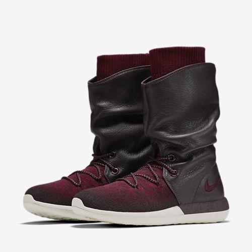 Nike pelle donne roshe due flyknit ciao stivali in pelle Nike rossa 861708-600 numero 5 7e2974