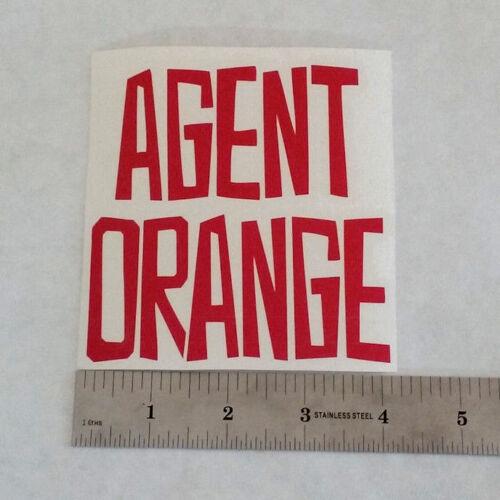 Agent Orange Vinyl Decal Sticker Blk//Wht//rouge Punk Rock Band Logo Fenêtre Skate