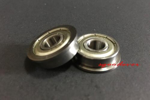 10pcs F608ZZ Flanged Shielded Bearing Miniature Ball Bearings 8x22x7mm