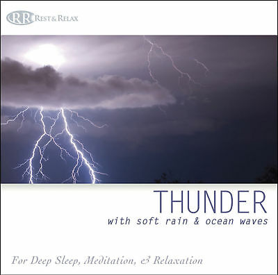 THUNDERSTORM Thunder Sound Effects CD with Soft Rain & Ocean Waves -NEW  UNOPENED | eBay