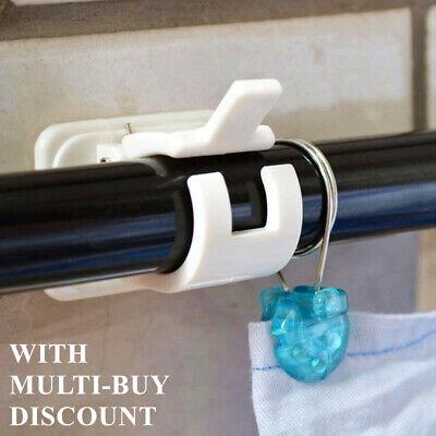 2 Nail-free Adjustable Rod Bracket Holder Wall Hanging Magic Rods Curtain rasd
