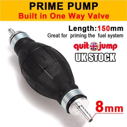 6//8//10//12MM Universal Fuel Pump Manual Transfer Pump No Return Valve Priming UK