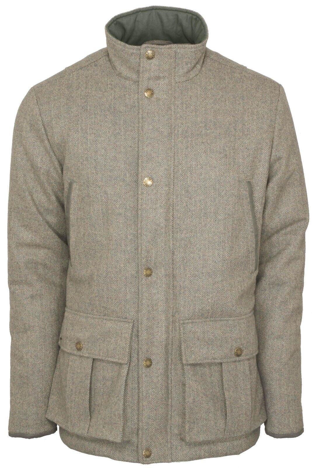Toggi Da Uomo cheswick Impermeabile e Traspirante Cappotto di Tweed