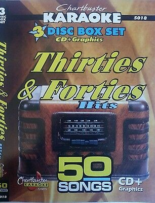5018 Chartbuster Karaoke Cdg Nostalga 30s & 40s 3 Disc 50 Wartime/pub Songs