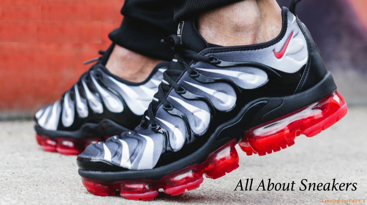 Nike Air Vapormax Plus Black-Red Men's Trainers All Sizes Limited & Rare