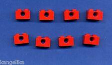 Lego--3700-- Lochstein --1 x 2 -- 1 Loch-- Rot--- 8 Stück--