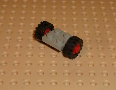 8 Lego Wheels Tires,2 Plates Light Bluish Grey 18x14mm With Pin Hole 2 Bricks