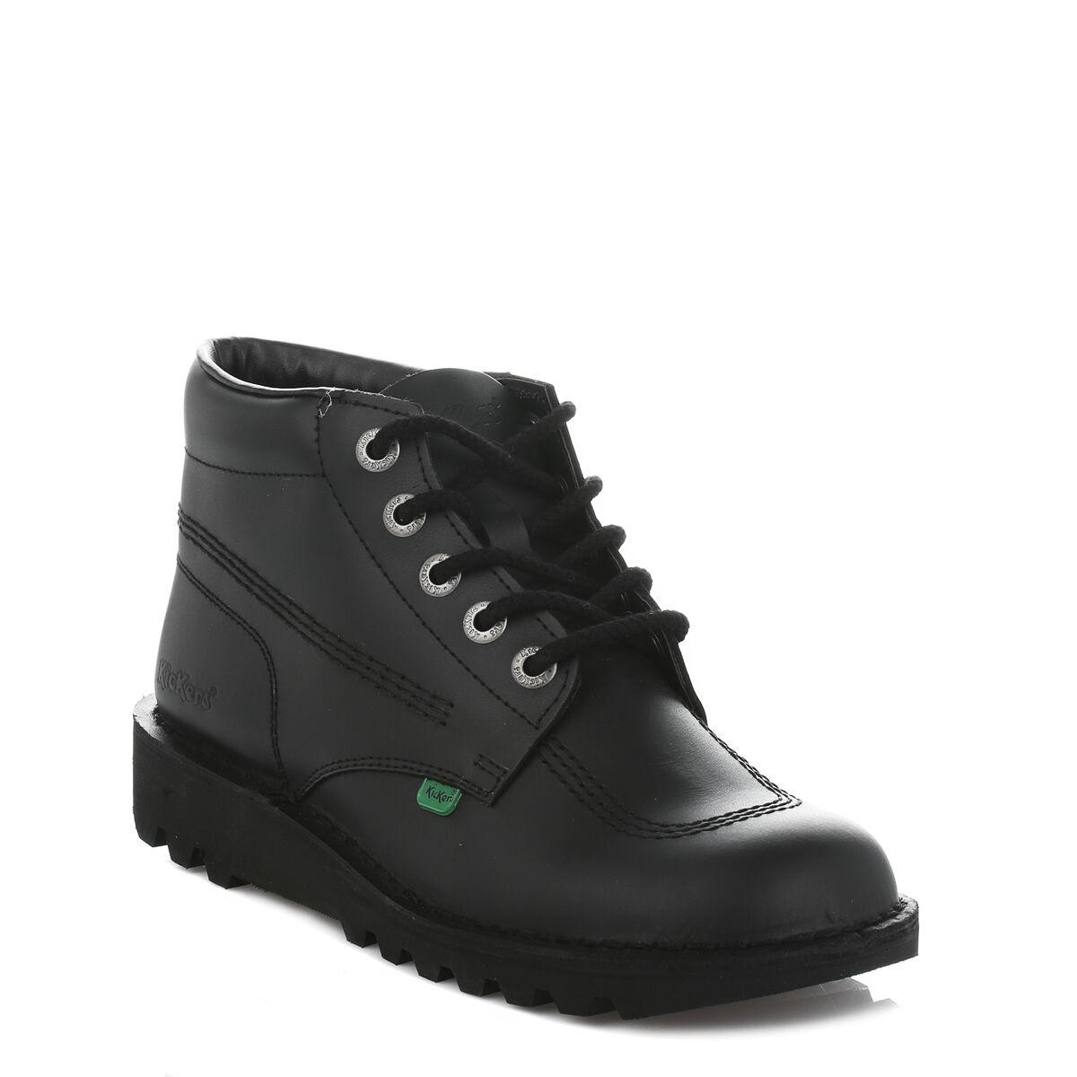 Kickers Kick Hi Core Mens Black Leather Boots, Ankle shoes