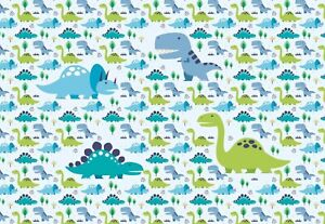 Childrens-bedroom-photo-wallpaper-Dinosaurs-368x254cm-Wall-mural-decor-green