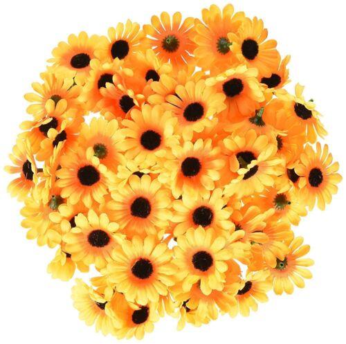 100Pcs Artificial Silk Gerbera Flowers Daisy Sunflower Heads Wedding Party Good