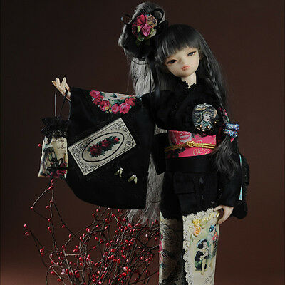 "Kiyomi Dress Set Black Dollmore 17/"" 1//4BJD doll clothes outfits MSD"