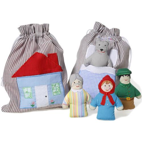 Red Riding Hood Oskar and Ellen Fabric Toys Story Bag Imaginative Play