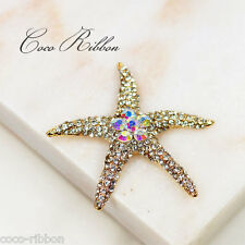 Alloy Rhinestone Sea Star Starfish Cabochon - Phone Case Deco - 2 Pieces 55mm