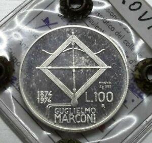 RARA-100-lire-1974-Marconi-PROVA-in-AR-PERIZIATA-BAZZONI-FDC