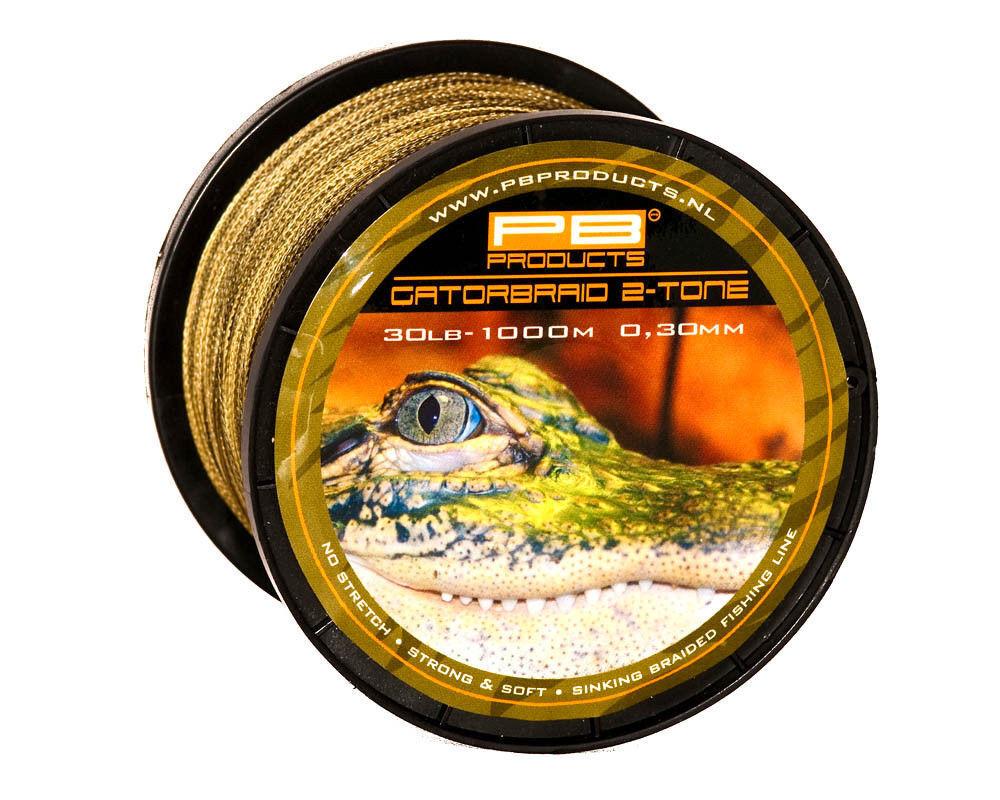 PB Products Gator Braid camouflage 1000m sinkend  geflochtene Karpfenschnur Carp