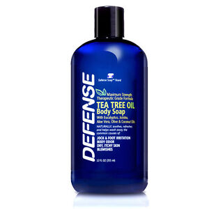 Defense-Soap-Body-Wash-Shower-Gel-12-Fl-Oz-Natural-Tea-Tree-Eucalyptus-Oil