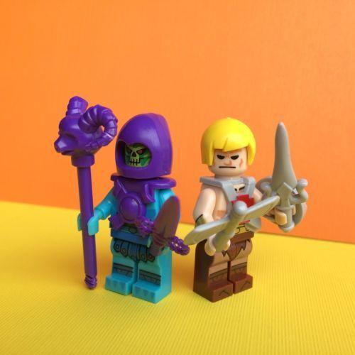 2X Masters of the Universe Skeletor /& He-Man Mini Figure Kids Toys