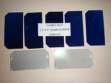 "AWESOME 2.5"" x 5"" Sunpower Flexible solar cells (63mm x125mm) .5V x 2.9A=1.67 W"