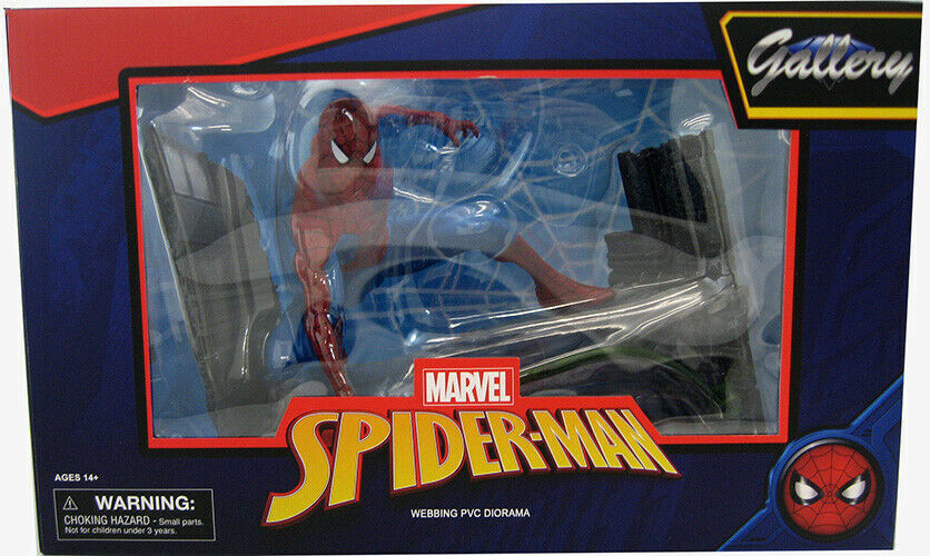 Diamond Select - Marvel Gallery Spider-Man Comic Webbing Pvc Figura