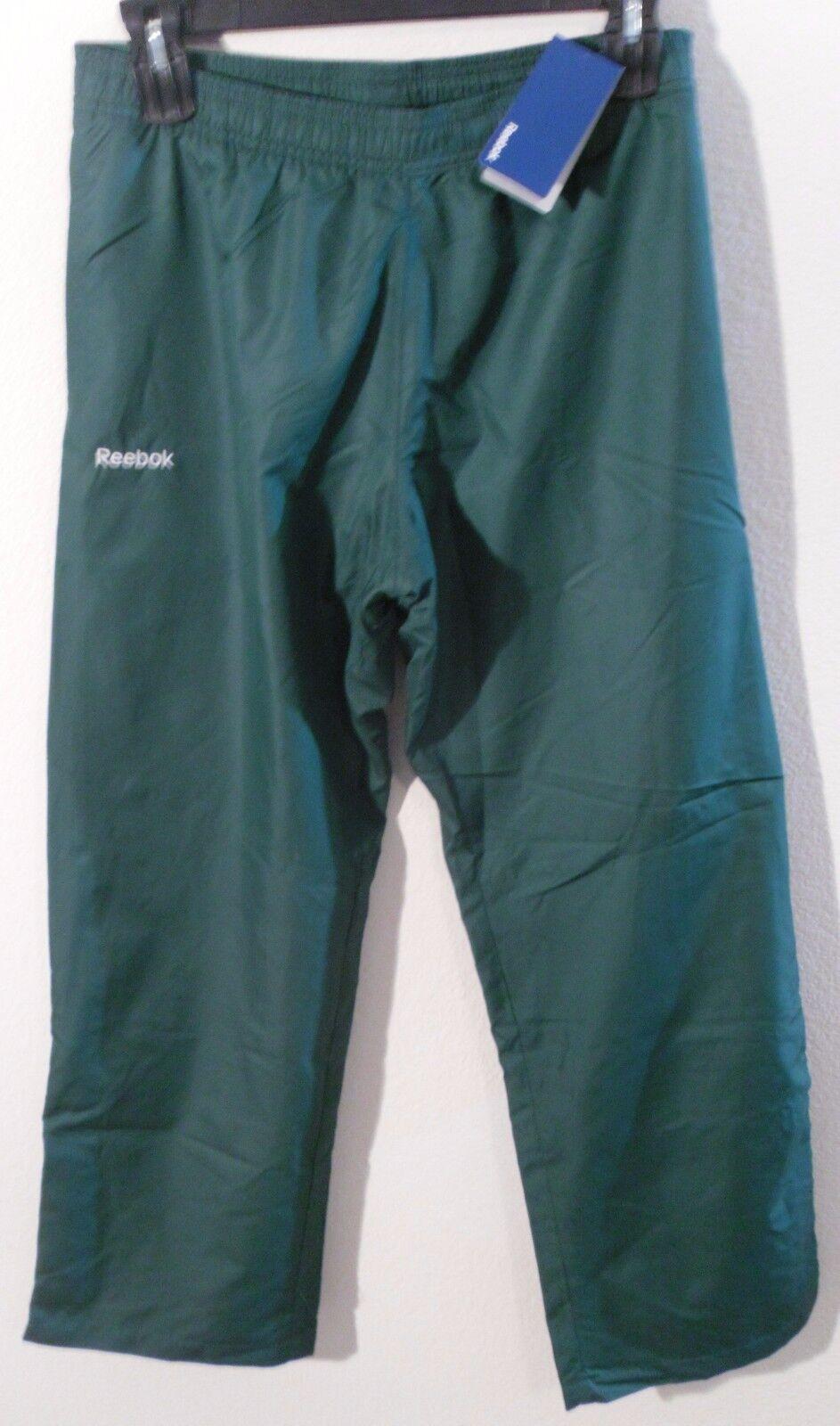 NWT Reebok Womens Athletic Warm-Up Pants L Green MSRP