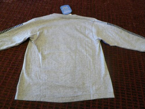 Long Sleeve Crew Neck T-Shirt Lee Pipes Gray Boy/'s Medium
