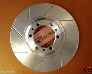 Disc-Brake-Rotors-Slotted-to-suit-EVO-5-6-7-8-9-GSR-RS2-BREMBO-Rear-Pair