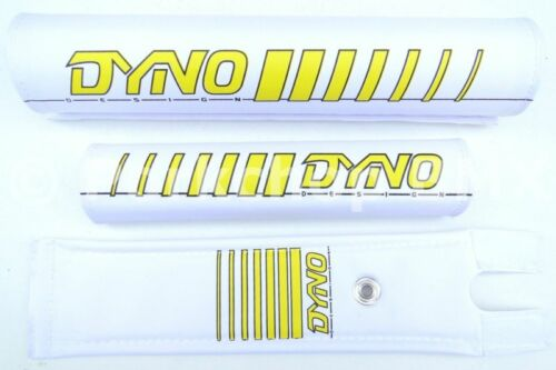 YELLOW *MADE IN USA* NEW DYNO old school BMX bicycle padset pads EARLY LOGO