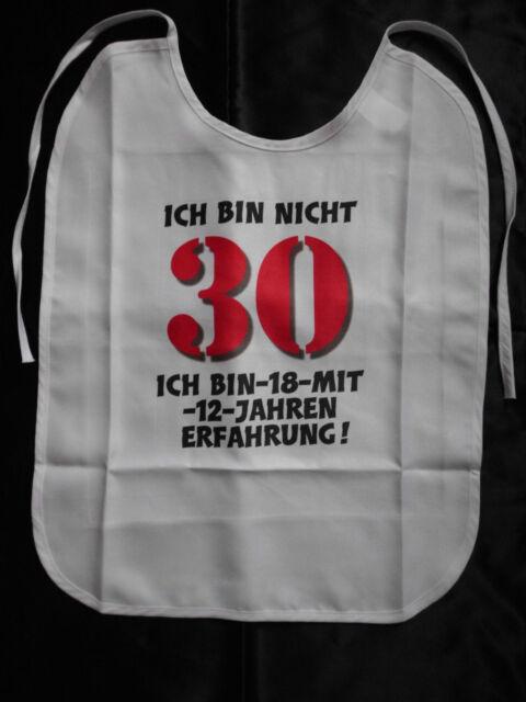 30.Geburtstag Lätzchen für Erwachsene witzige Geschenke Geburtstag Scherzartikel