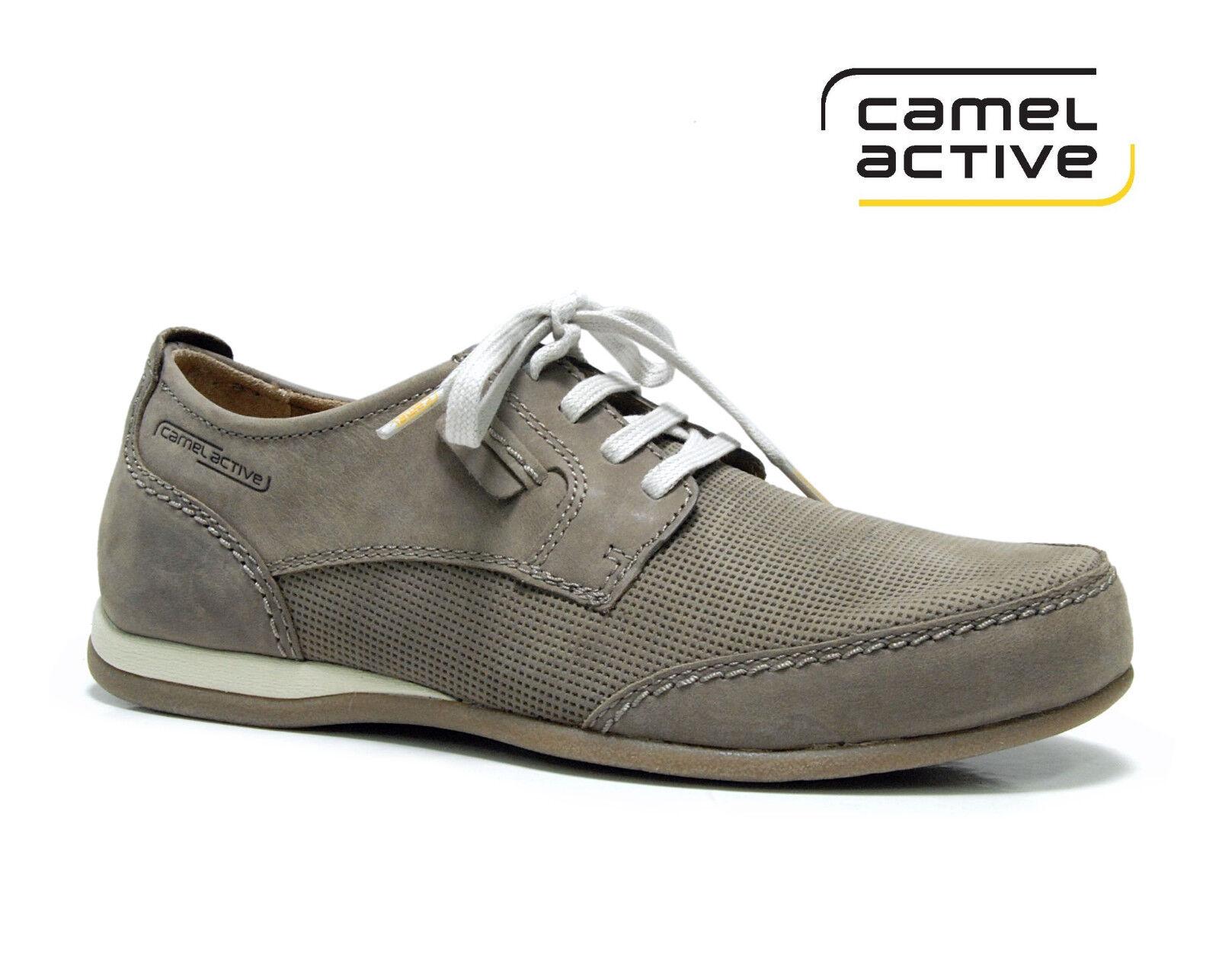 Camel Active Herren Halbschuh Dunkelbeige / Grau 381.15.02
