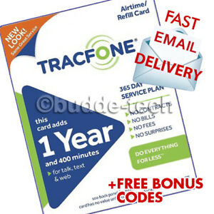 Details about TracFone 1 Year & 400 Minutes Service PIN # Airtime Plan BYOP  Activation Phone