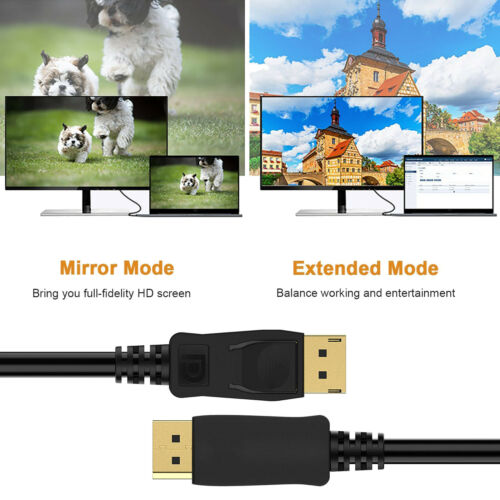 Display Port DisplayPort DP Male to Male 6FT 1.8M Cable High Speed For PC Laptop