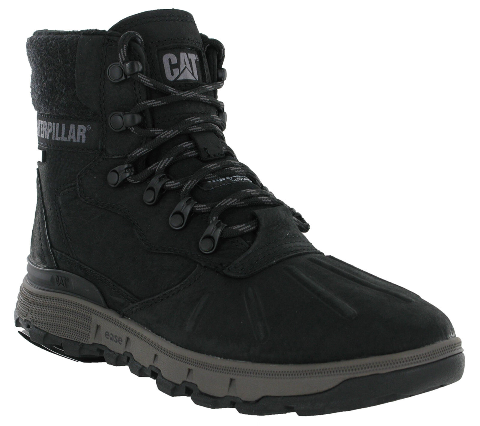 CAT Caterpillar Stiction Hi Ice Waterproof Snow Ankle Leather Mens Grip Boots