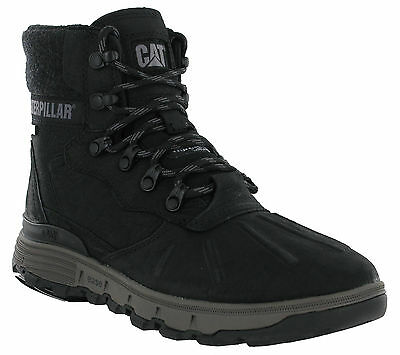 100% Vero Cat Caterpillar Stiction Hi Ghiaccio Neve Impermeabili Caviglia Pelle Uomo Grip