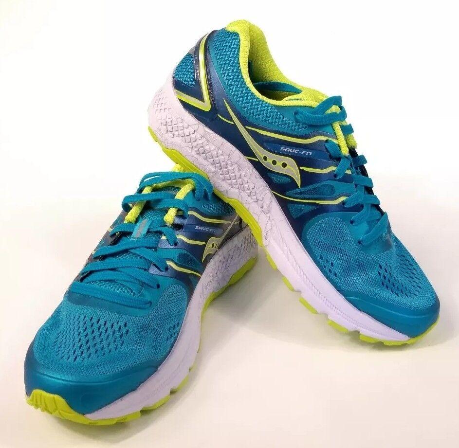 Saucony Mujer Omni 16 verde Azulado Citron S10370-4 Zapatos Para Correr Azul Zapatillas Nuevo