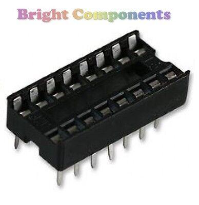 20 x Brand New 8 Pin DIL DIP IC Socket 1st CLASS POST