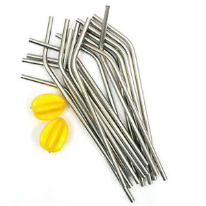 Stainless-Steel-Drinking-Straw-Reusable-Washable-for-Bar-Wedding-Party-AGUK