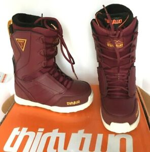 240-ThirtyTwo-W-039-s-Lashed-Lace-Up-Snowboard-Boots-Burgundy-NIB-32-Size-7-or-9