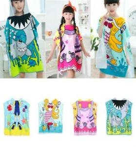4e0241039564a Details about Baby Soft Cartoon Hooded Towel Children Swim Beach Bath Wear  Kids Bathrobe LC