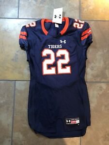 free shipping a82ed 0d155 Details about NWT Under Armour Auburn Tigers Stitched Football Jersey Mens  Large Authentic