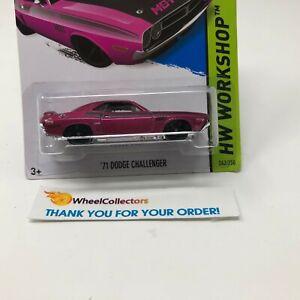 Bad-Card-039-71-Dodge-Challenger-Purple-2013-Hot-Wheels-HC13