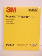 """Imperial Wetordry Sheet 2036, 9"""" x 11"""", P600A, 50 sheets/sleeve 213Q (A35)"""