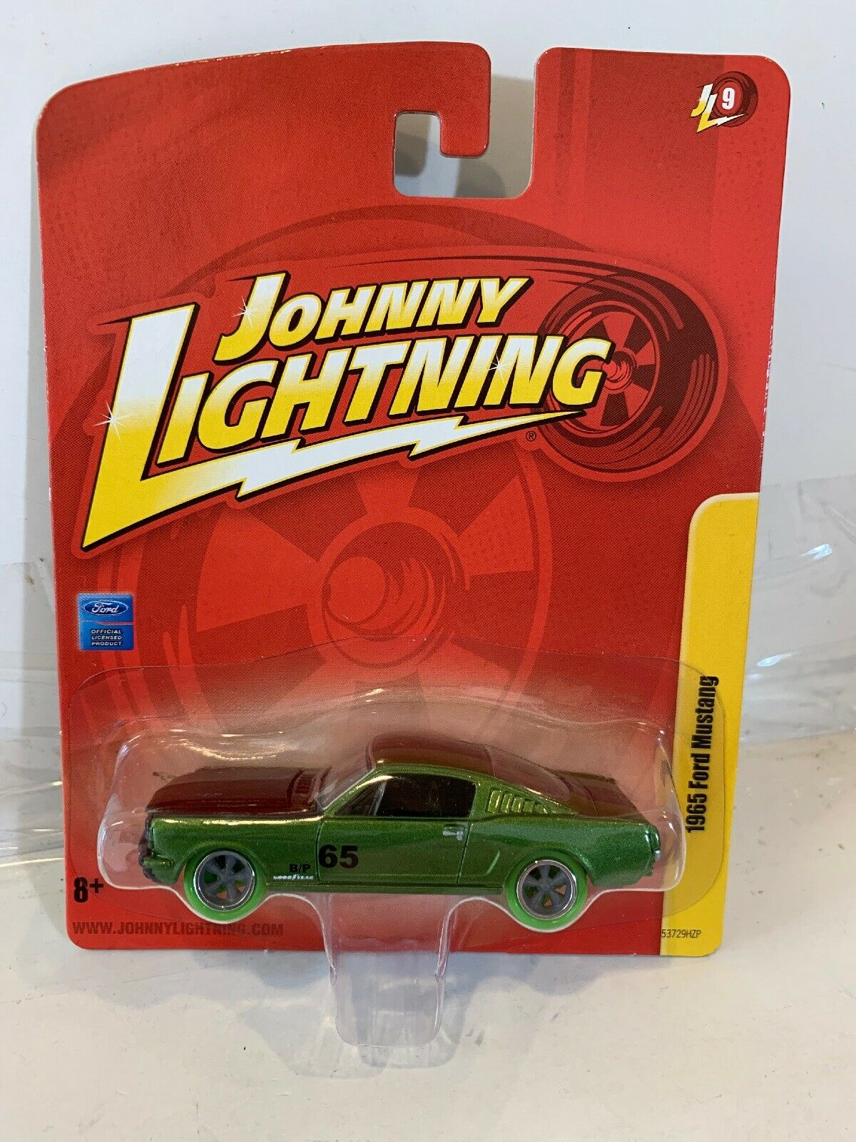 RARE JOHNNY LIGHTNING WHITE LIGHTNING STRIKE 1965 Ford Mustang Die Cast Car
