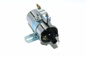 12V-Universal-Chrome-60-000-Volts-Ignition-Street-Coil-Canister-Hot-Rod
