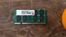 2Go RAM PC Portable SODIMM TRANSCEND DDR2 PC2-6400S 800MHz