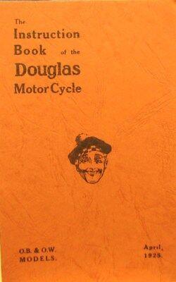 1925 Douglas Motocicletta Istruzioni Book Of The O. B. & O.w.modelli & Sidecars