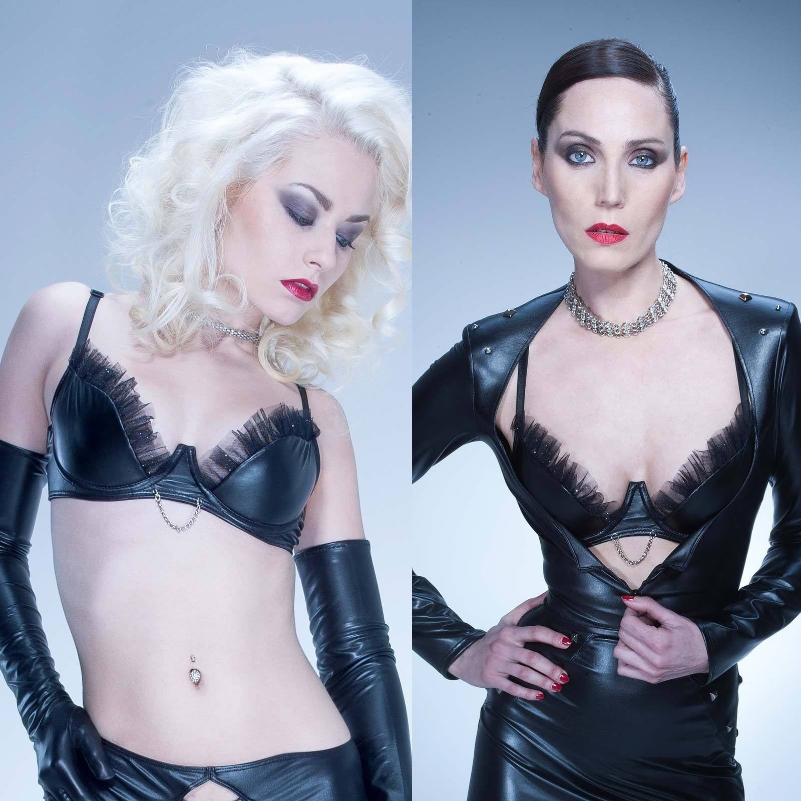 PATRICE CATANZARO Betty Lou Wetlook BH Party Bra GOTHIC CLUBWEAR GOGO Kunstleder