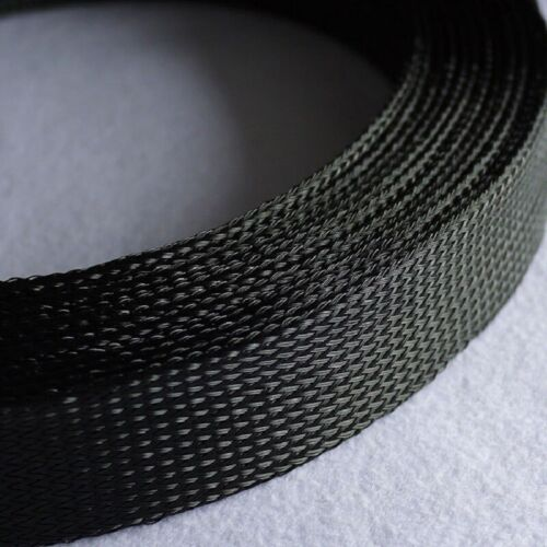 35mm  PET Cable Sleeving Audio Sleeve GRAY//BLACK Expandable Braided Nylon mesh